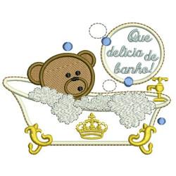BEAR IN TUB