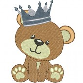 BABY BEAR BOY WITH CROWN