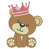 BABY BEAR GIRL WITH CROWN