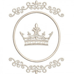 DELICATE FRAME WITH CROWN CROWNS