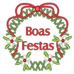 GUIRLANDA BOAS FESTAS 8 CM