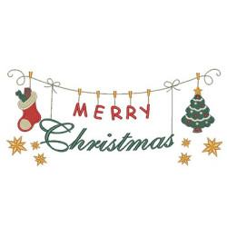 MERRY CHRISTMAS CLOTHESLINE 1
