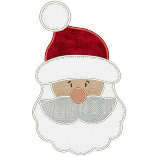Rosto Do Papai Noel Aplicado Grande