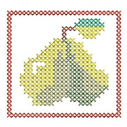 CHRISTMAS CROSS POINT PEAR CROSS STITCH