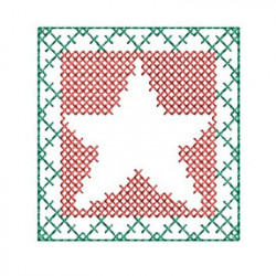 CHRISTMAS CROSS POINT STAR CROSS STITCH