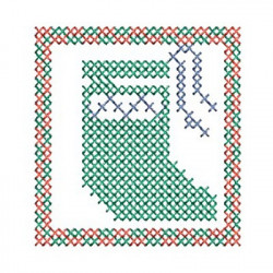 POINT CHRISTMAS STOCKING CROSS