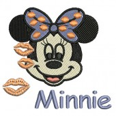 MINNIE FACE WITH KISSES