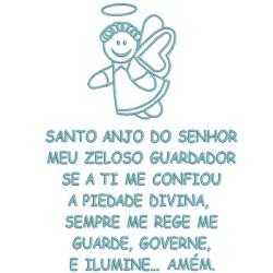 PRAYER SANTO ANGEL 18x13 PT