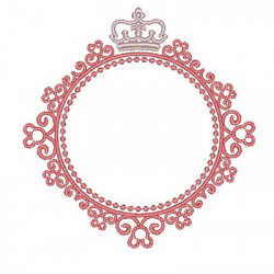 FRAME WITH CROWN 8CM FRAME WITH FLOWERS
