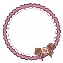 FRAME WITH LACE 9 CM FRAMES WITH LACE