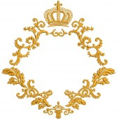 FRAME DAMASK WITH CROWN