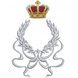 BRANCH FRAME WITH CROWN 15 CM