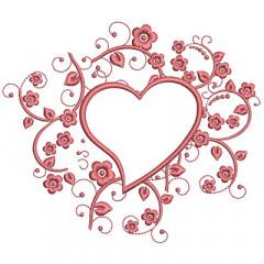 FRAME IN HEART 14 CM