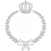CROWN WITH LACE FRAME 13 CM