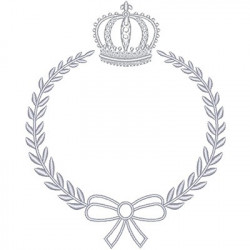 CROWN WITH LACE FRAME 13 CM July 2015