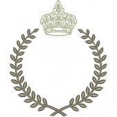 FRAME WITH CROWN DELICATE 14 CM