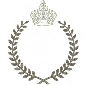 FRAME WITH CROWN DELICATE 24 CM