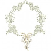 FRAME WITH LACE 13 CM