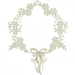 FRAME WITH LACE 13 CM BAPTIZED FRAMES