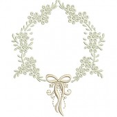FRAME WITH LACE 10 CM