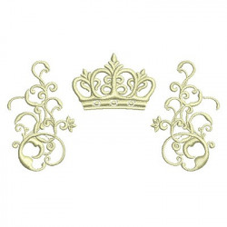 ARABESQUES WITH CROWN 5 CROWNS