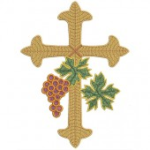 CROSS WITH GRAPES 20 CM