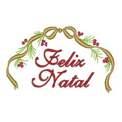 FELIZ NATAL COM LAÇO NATAL