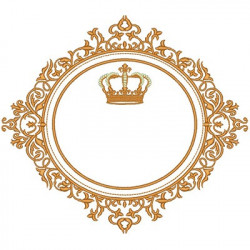 LARGE FRAME WITH CROWN