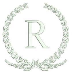 MONOGRAM LETTER R FRAMES & MONOGRAMS