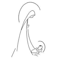 MARIA Y JESUS SANTO CONTORNO