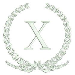 MONOGRAM LETTER X