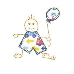 BALLOON BOY WITH APPLIQUE CLOTHING CHILD
