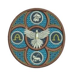 DIVINE HOLY SPIRIT VITRAL 8 CM DIVINE HOLY SPIRIT