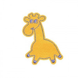 APPLIQUE LITTLE GIRAFFE ANIMALS