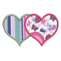 APPLIQUE HEARTS HEARTS