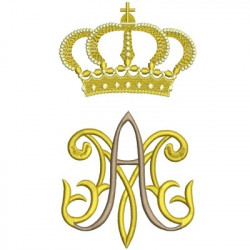 EMBROIDERY MARIAN 3 GREATER CROWNS
