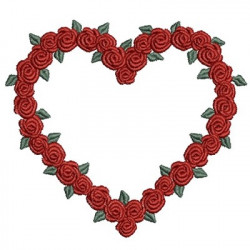 GARLAND OF ROSES 8.5 CM HEARTS