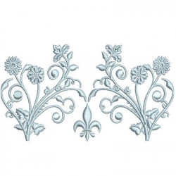 MIDDLE BRANCH WITH FLEUR DE LIS