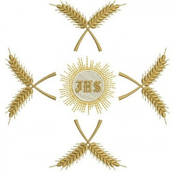 CROSS OF WHEAT AND HOST JHS & IHS