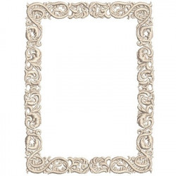 RECTANGULAR FRAME 10 CM BRANCHES AND ACACIES