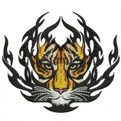 TIGER IN TRIBAL ANIMAL