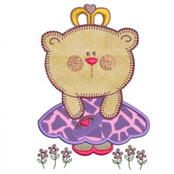 LITTLE BEAR DRESS APPLIQUE ANIMALS