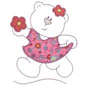 LITTLE BEAR DRESS APPLIQUE 2