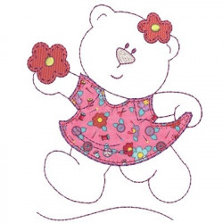 LITTLE BEAR DRESS APPLIQUE 2 February 2015