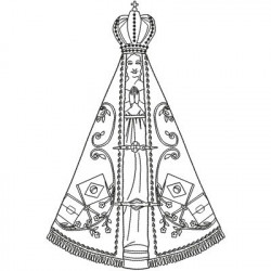OUR LADY APARECIDA 22CM SAINTS SKIRTED