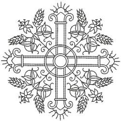 CRUZ COM TRIGOS 12 X 12 JHS & IHS