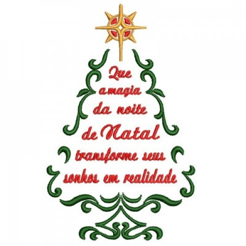 árbol De Navidad Con La Frase