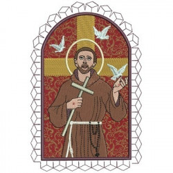 SAINT FRANCIS OF ASSISI 20 CM CHASUBLES & GALLON