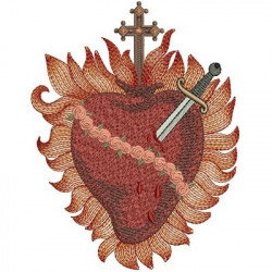 IMMACULATE HEART OF MARY 16 CM SACRED AND IMMACULATE HEART