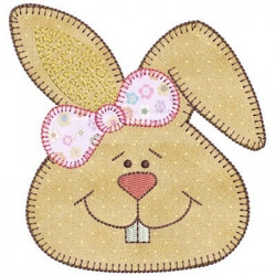 APPLIQUE RABBIT FACE II
